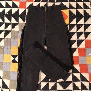 Vintage 80s Handmade Fishnet Jeans
